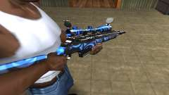 Blue Limers Sniper Rifle для GTA San Andreas