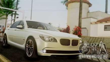 BMW 7 Series F02 2012 для GTA San Andreas