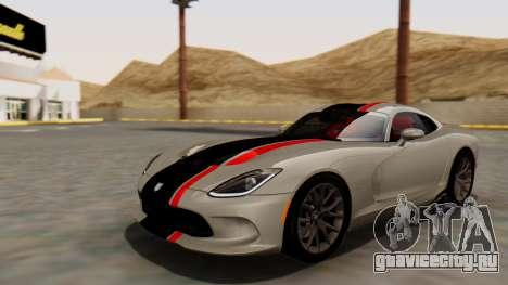 Dodge Viper SRT GTS 2013 HQLM (MQ PJ) для GTA San Andreas вид сбоку