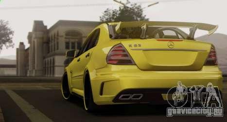Mercedes-Benz E63 Qart Tuning для GTA San Andreas вид сзади