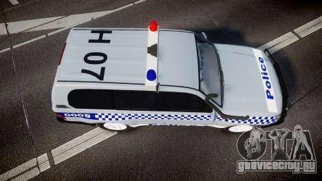Toyota Land Cruiser 100 2005 Police [ELS] для GTA 4 вид справа