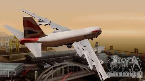 Boeing 747 British для GTA San Andreas вид слева