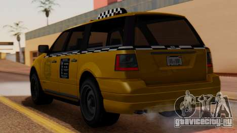 Landstalker Taxi SR 4 Style для GTA San Andreas вид слева