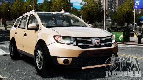 Dacia Logan MCV Stepway 2014 для GTA 4