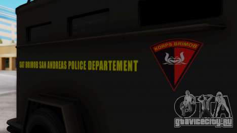 GTA 5 Enforcer Indonesian Police Type 2 для GTA San Andreas вид справа