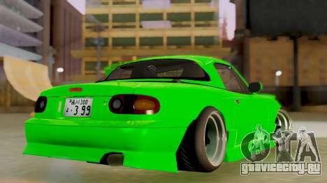 Mazda MX-5 BnSports для GTA San Andreas вид сзади