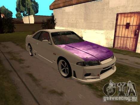 Nissan Skyline R33 Drift Monster Energy JDM для GTA San Andreas вид сбоку