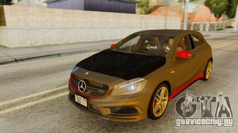 Mercedes-Benz A45 AMG 2012 PJ для GTA San Andreas вид снизу