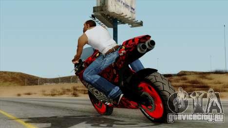 Bati Batik Motorcycle v2 для GTA San Andreas вид слева
