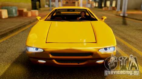 HD Infernus для GTA San Andreas вид сзади