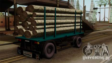 GTA 5 Fieldmaster Wood Trailer для GTA San Andreas вид слева