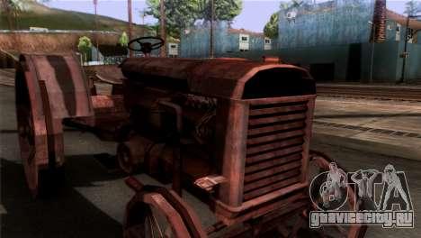 GTA 5 Rusty Tractor для GTA San Andreas вид сзади слева