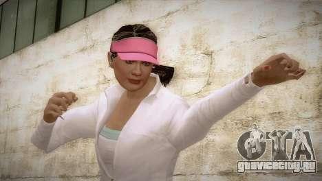 GTA 5 Amanda De Santa Tennis Skin для GTA San Andreas