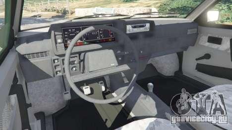 ВАЗ-21093i для GTA 5 вид сзади справа