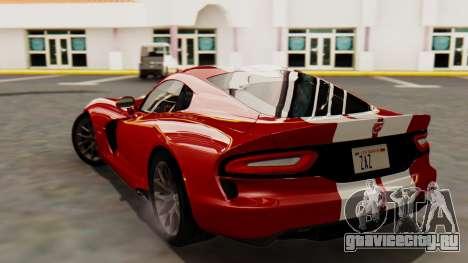 Dodge Viper SRT GTS 2013 HQLM (MQ PJ) для GTA San Andreas вид слева