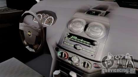 Chevrolet Aveo Taxi Poza Rica для GTA San Andreas вид справа