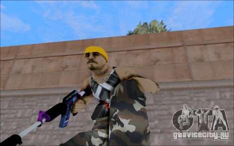 M4A1 Color для GTA San Andreas третий скриншот
