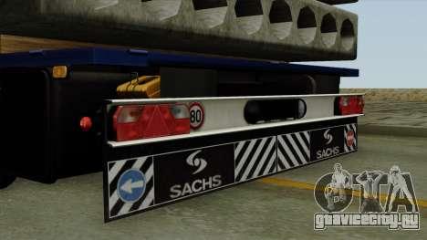 Flatbed3 Blue для GTA San Andreas вид справа