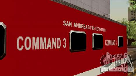 FDSA Mobile Command Post Truck для GTA San Andreas вид справа
