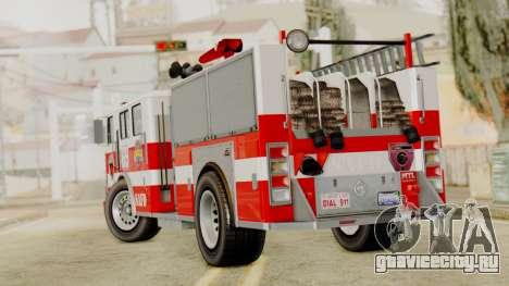 MTL SAFD Firetruck для GTA San Andreas вид слева