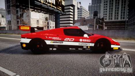 Ferrari F50 GT 1996 Scuderia Ferrari для GTA 4 вид слева