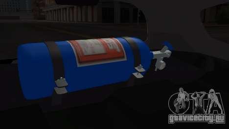Honda Fit 2009 Faketaxi для GTA San Andreas вид сзади