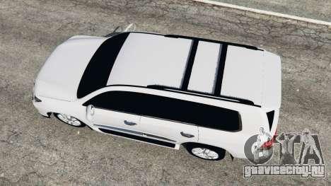 Lexus LX 570 2014 для GTA 5 вид сзади