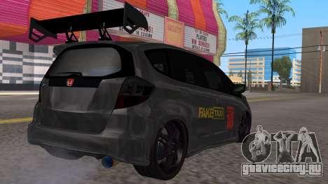 Honda Fit 2009 Faketaxi для GTA San Andreas вид слева