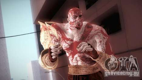 God Of War 3 Kratos Blood для GTA San Andreas