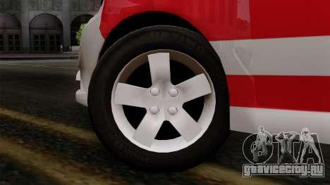 Chevrolet Aveo Taxi Poza Rica для GTA San Andreas вид сзади слева