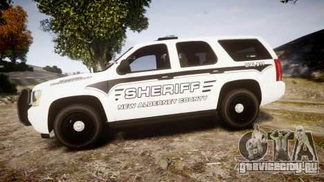 Chevrolet Tahoe 2013 New Alderney Sheriff [ELS] для GTA 4 вид слева