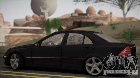 Mercedes-Benz C32 W203 2004 для GTA San Andreas вид сзади
