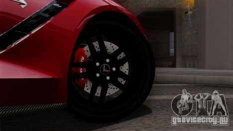 Chevrolet Corvette C7 Stingray 1.0.1 для GTA San Andreas вид справа