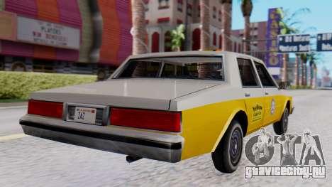 Chevrolet Caprice 1980 SA Style Cab для GTA San Andreas вид слева