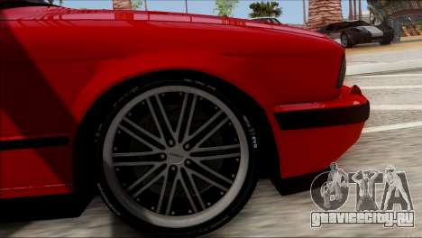 BMW M5 E34 BUFG Edition для GTA San Andreas вид сзади слева