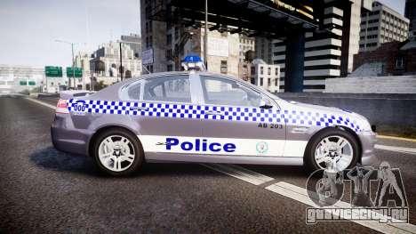 Holden VE Commodore SS Highway Patrol [ELS] для GTA 4 вид слева