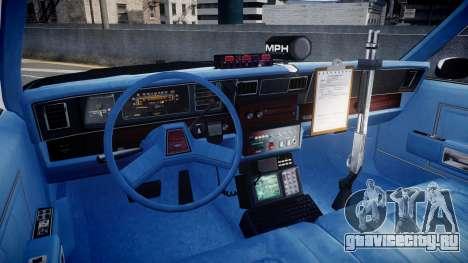 Chevrolet Caprice 1989 LAPD [ELS] для GTA 4 вид сзади