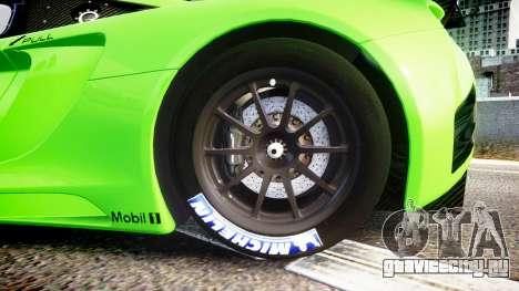 McLaren MP4-12C GT3 blank liveries для GTA 4 вид сзади