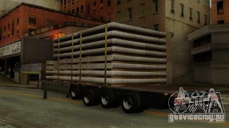 Flatbed3 Grey для GTA San Andreas вид слева