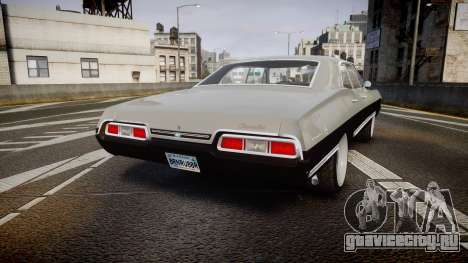 Chevrolet Impala 1967 Custom для GTA 4 вид сзади слева