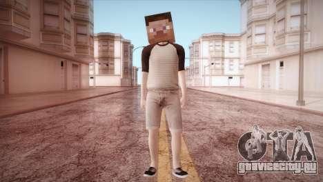 Minecraft Boy для GTA San Andreas второй скриншот