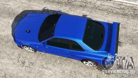 Nissan Skyline R34 GT-R v0.1 для GTA 5 вид сзади
