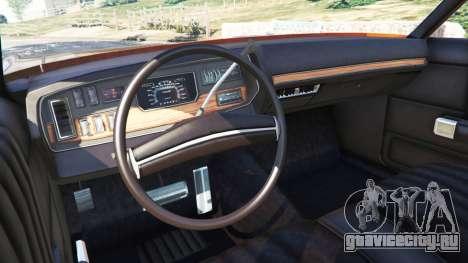 Dodge Polara 1971 для GTA 5 вид сзади справа