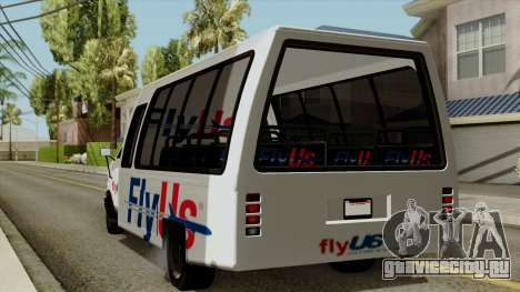 Fly Us Airport Bus для GTA San Andreas вид слева