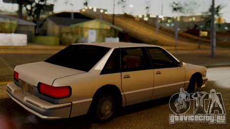 Declasse Premier для GTA San Andreas вид сзади слева