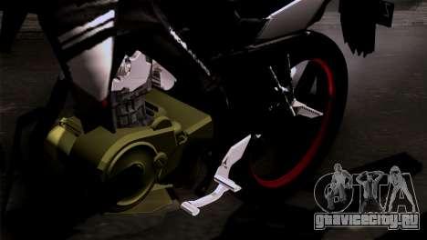 Yamaha Vixion Advance Lominous White для GTA San Andreas вид сзади