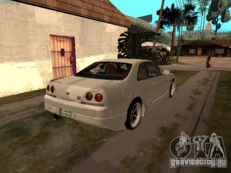 Nissan Skyline R33 Drift Monster Energy JDM для GTA San Andreas вид сзади