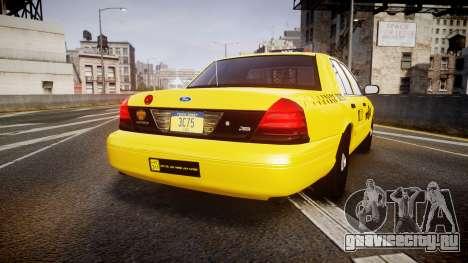 Ford Crown Victoria 2011 NYC Taxi для GTA 4 вид сзади слева