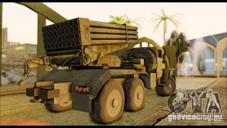 BM-21 Grad CoD MW для GTA San Andreas вид сзади слева