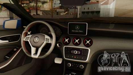 Mercedes-Benz A45 AMG 2012 PJ для GTA San Andreas вид сзади слева